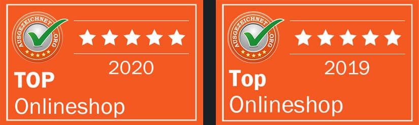 Auszeichnung für Trikotexpress: TOP Onlineshop 2019 und 2020