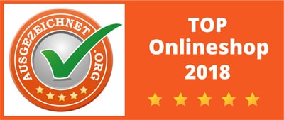 Award: TOP online shop 2018