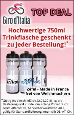 Hochwertige Trikotexpress Trinkflasche zu jeder Bestellung