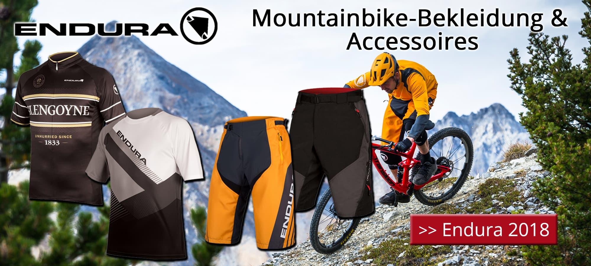 Endura 2018 - Mountainbike-Bekleidung & Accessoires