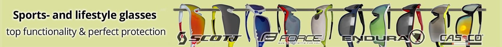 Sports- and lifestyle glasses - top functionality & perfect protection