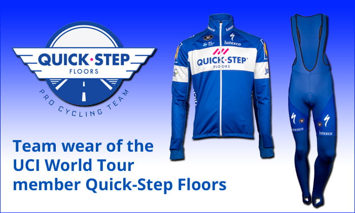 Cycling wear of the Pro-Team Quick-Step Floors