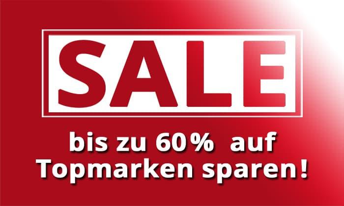 Sale - bis zu 60% auf Topmarken sparen!