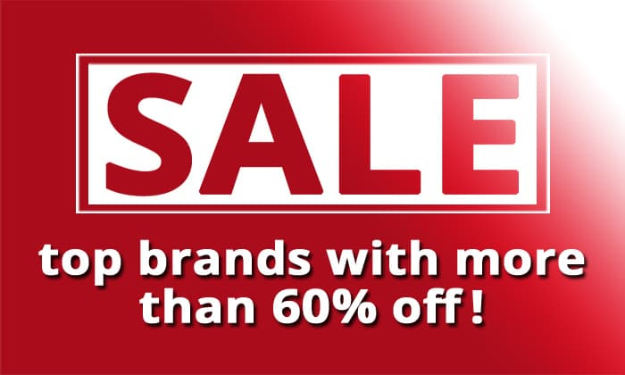 Sale - top brands with more than 60% off!