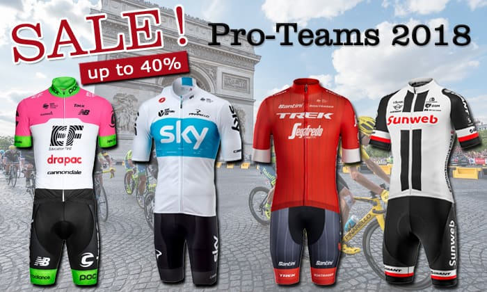 Best deals professional cycling teams 2018