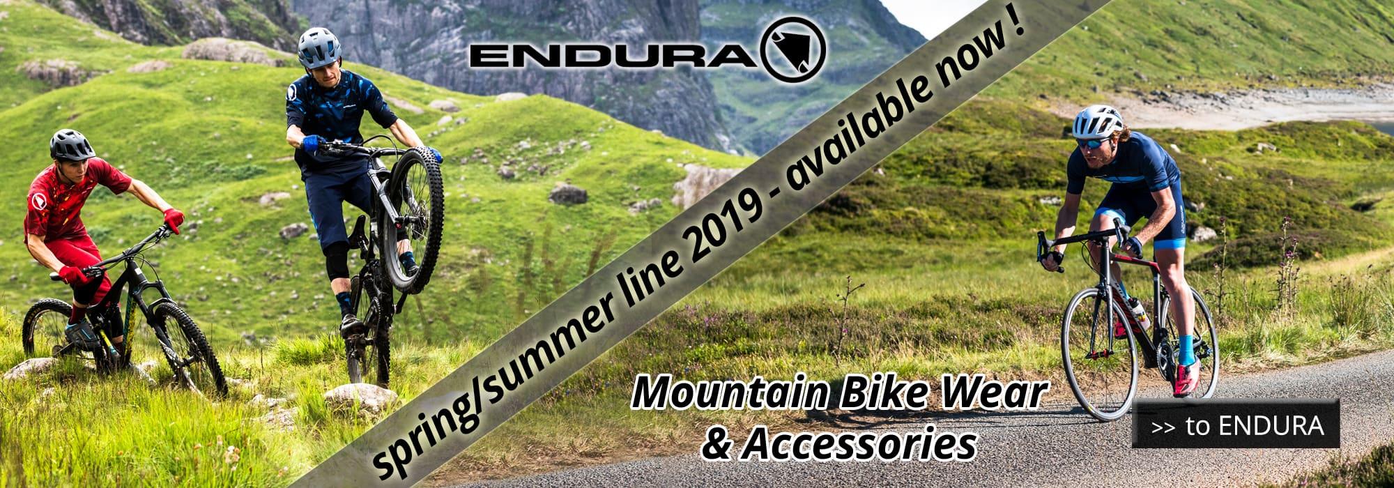 Endura 2019 Mountain Bike Wear & Accessories