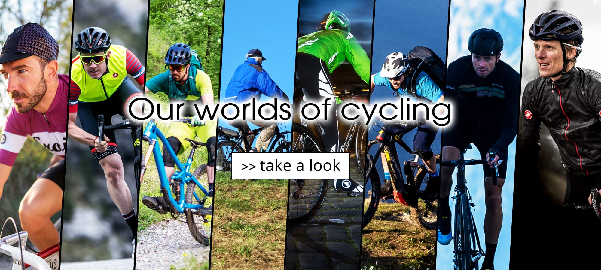 Our worlds of cycling - The short way to your favourite product