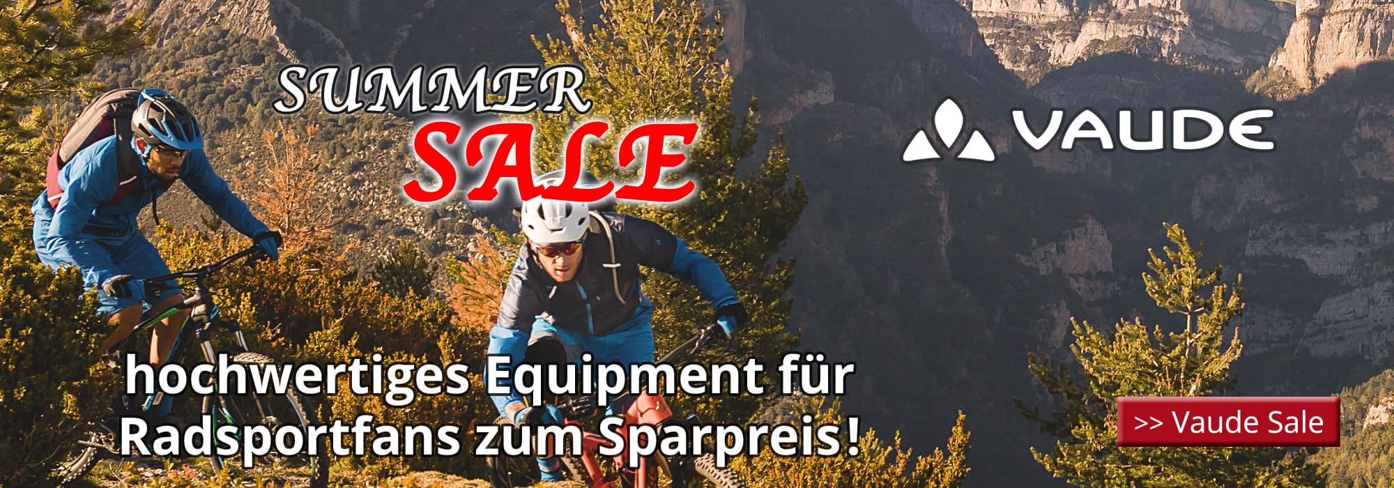 Vaude Summer Sale - hochwertiges Equipment für Radsportfans zum Sparpreis