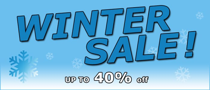 Winter Sale with up to 40% off