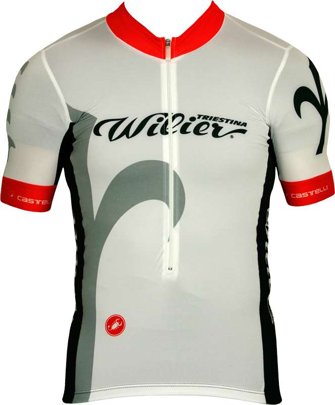 WILIER FREE AERO RACE short sleeve jersey white by Castelli f82885450