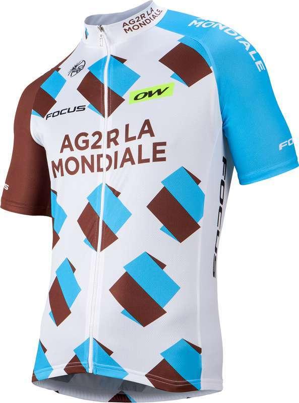 ONEWAY AG2R LA MONDIALE 2016 cycling jersey (long zip) - professional cycling  team 378c50378