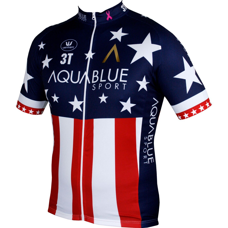 64f7636af AquaBlue Sport US american road champ 2018 short sleeve jersey (long zip) -  Vermarc. Previous