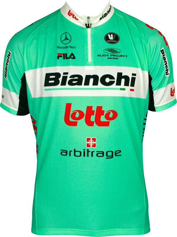 2279a40a2 ARBITRAGE LOTTO BIANCHI 2013 Vermarc professional cycling team - cycling  jersey with short zip. Previous