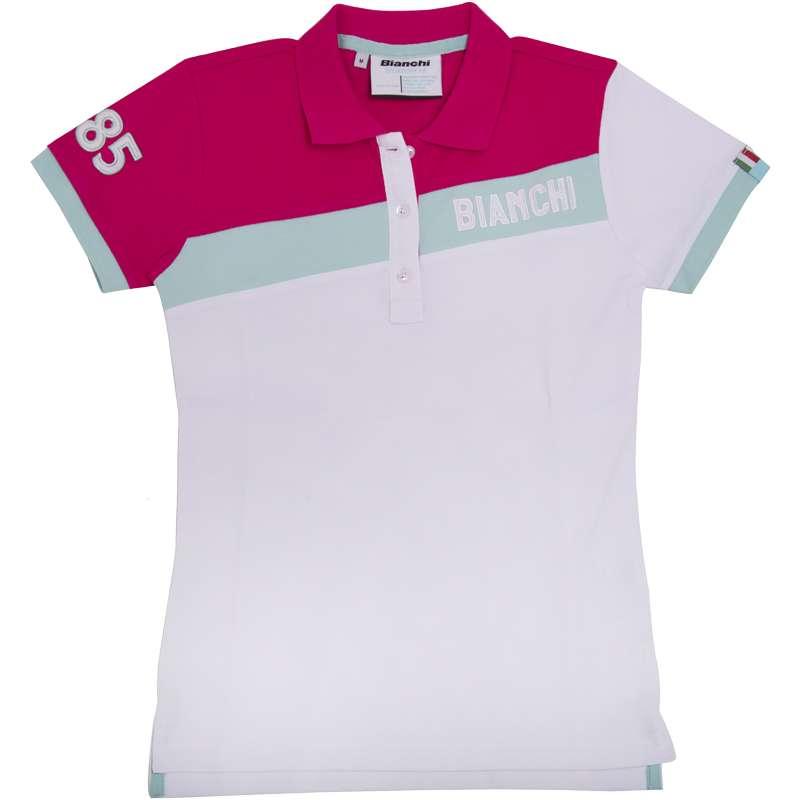 Bianchi CELESTE STRIPE Damen Poloshirt wei' magenta - Gr''e M (3)