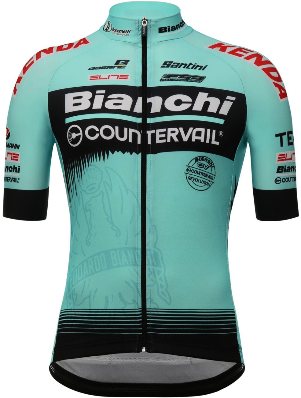 Bianchi Countervail 2018 short sleeve cycling jersey - Santini professional cycling  team. Previous 8eedb6241