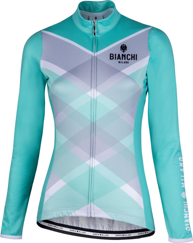 BIANCHI MILANO Cornedo womens long sleeve cycling jersey celeste (I18-4300) 80240aa01
