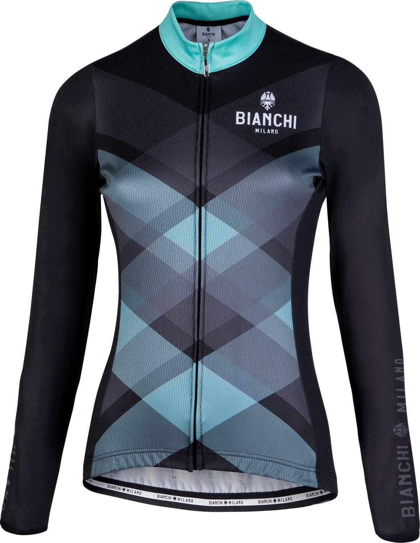 BIANCHI MILANO Cornedo womens long sleeve cycling jersey black (I18-4000) e7527bfed
