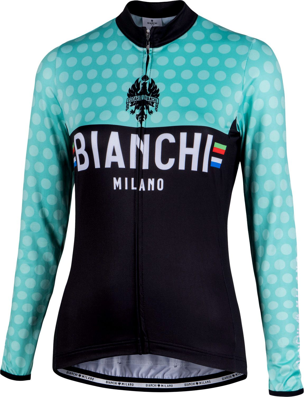 BIANCHI MILANO TERMENO womens long sleeve cycling jersey black celeste (I18 -4300) 30e094ebb