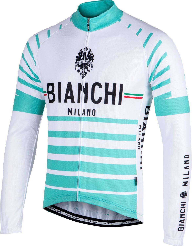 BIANCHI MILANO Appiano long sleeve cycling jersey white celeste (I18-4300) 836d1f6b1