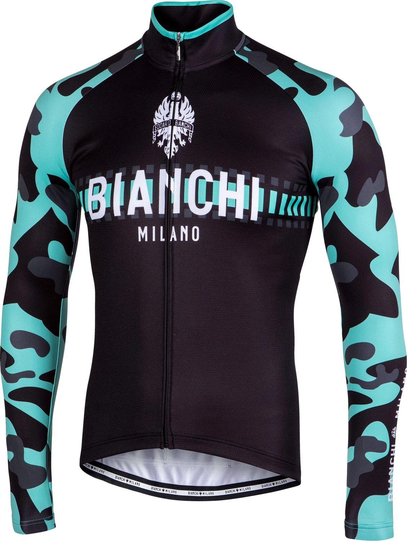 Bianchi Milano Brennero long sleeve cycling jersey black celeste  (I18-4300). Previous 18fd3ba44