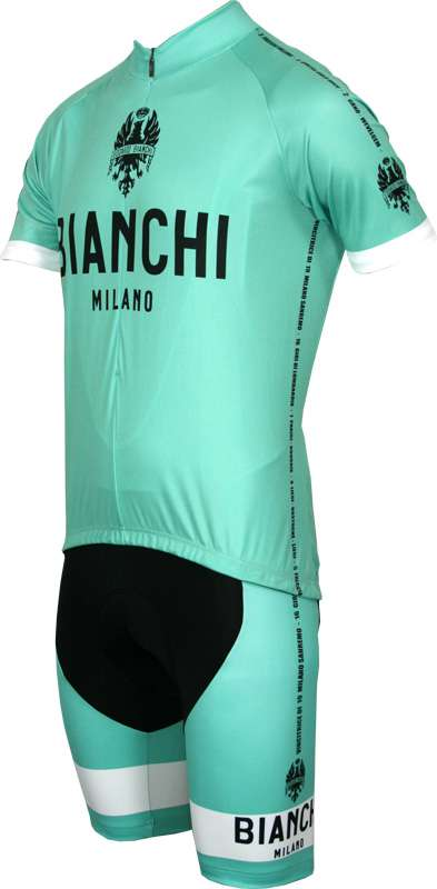 2544a6221 Previous. Bianchi Milano cycling set (short sleeve jersey PRIDE + strap  trousers VICTORY) Grandi Classiche