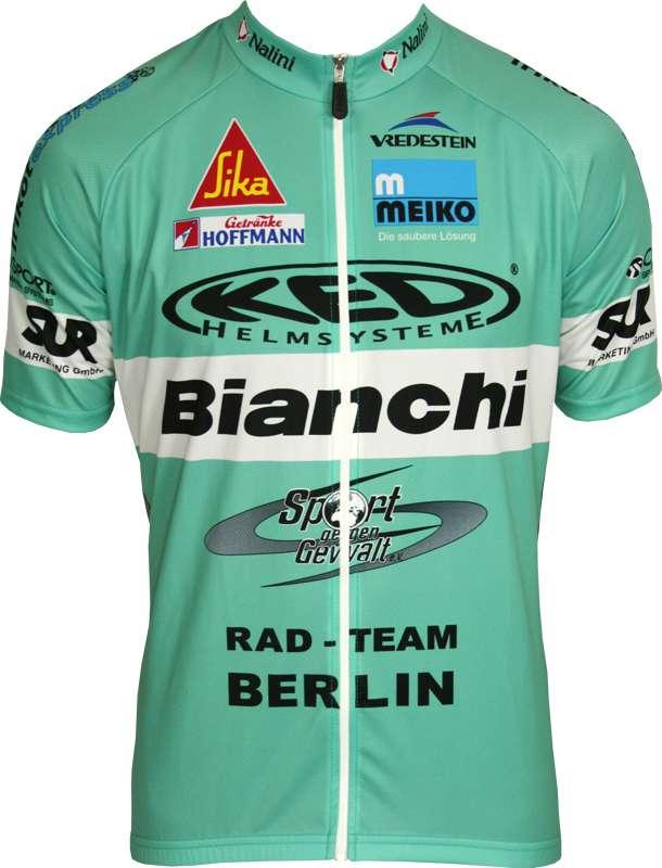 NALINI BIANCHI BERLIN short sleeve jersey (long zip) - professional cycling  team a6512f120