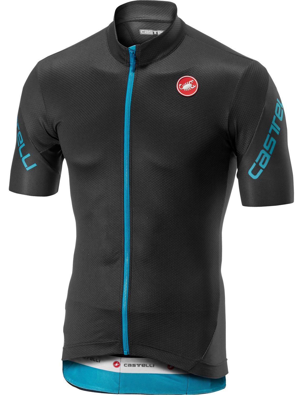 Castelli ENTRATA 3 short sleeve cycling jersey dark gray sky blue. Previous a17188442