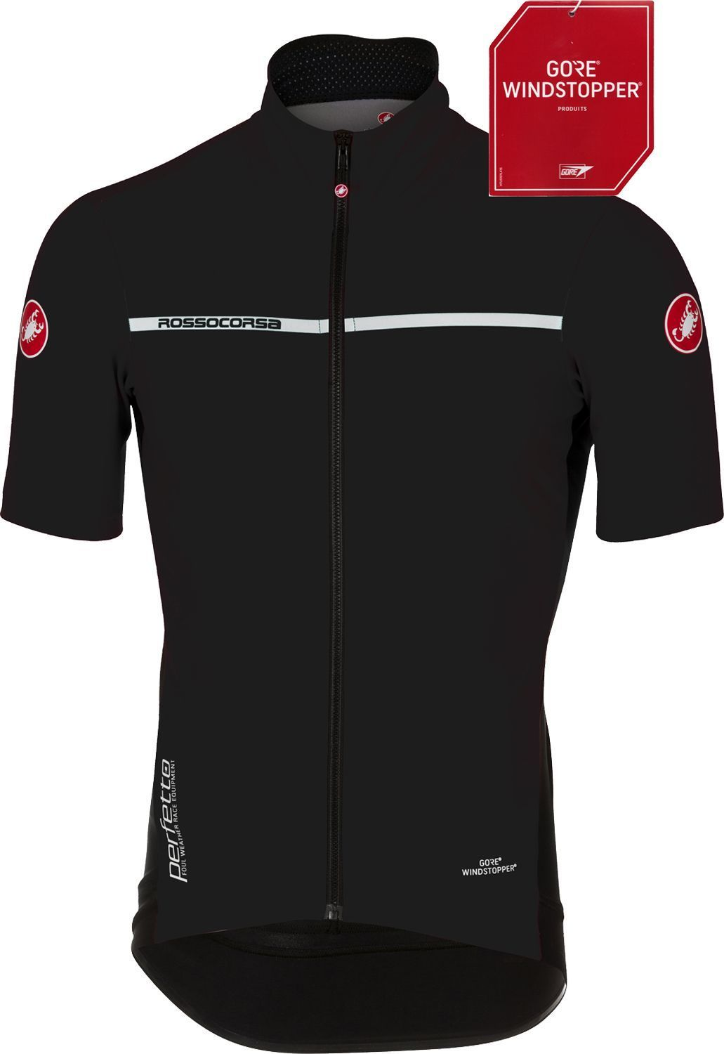 Castelli PERFETTO LIGHT 2 - wind waterproof short sleeve cycling jersey  black. Previous 1dbb5207c