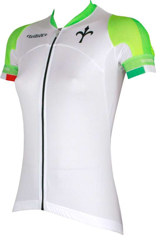 dc27f9f58 Wilier CERTEZZA short sleeve jersey for ladies white green by Castelli. Next