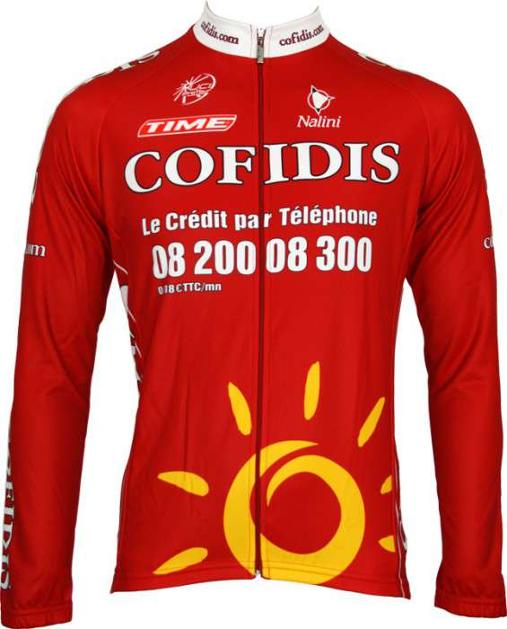 NALINI Cofidis 2008 tricot (jersey long sleeve) - professional cycling team b4a48af42