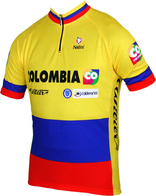 679ac2632 COLOMBIA Colombian champ 2014 Nalini professional cycling team - cycling  jersey with short zip. Previous