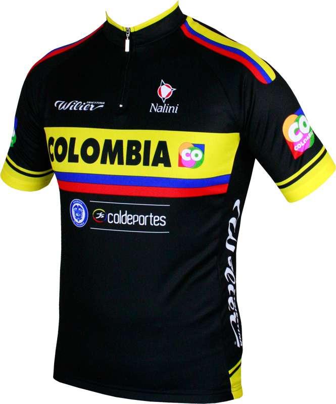 6dc0ecc70 COLOMBIA 2015 short sleeve jersey (short zip) - Nalini professional cycling  team. Previous
