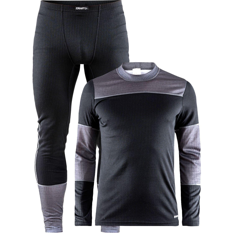 Ropa interior (Camiseta manga larga + Calzincillos larga) negro gris ... 5e2c01b8819f