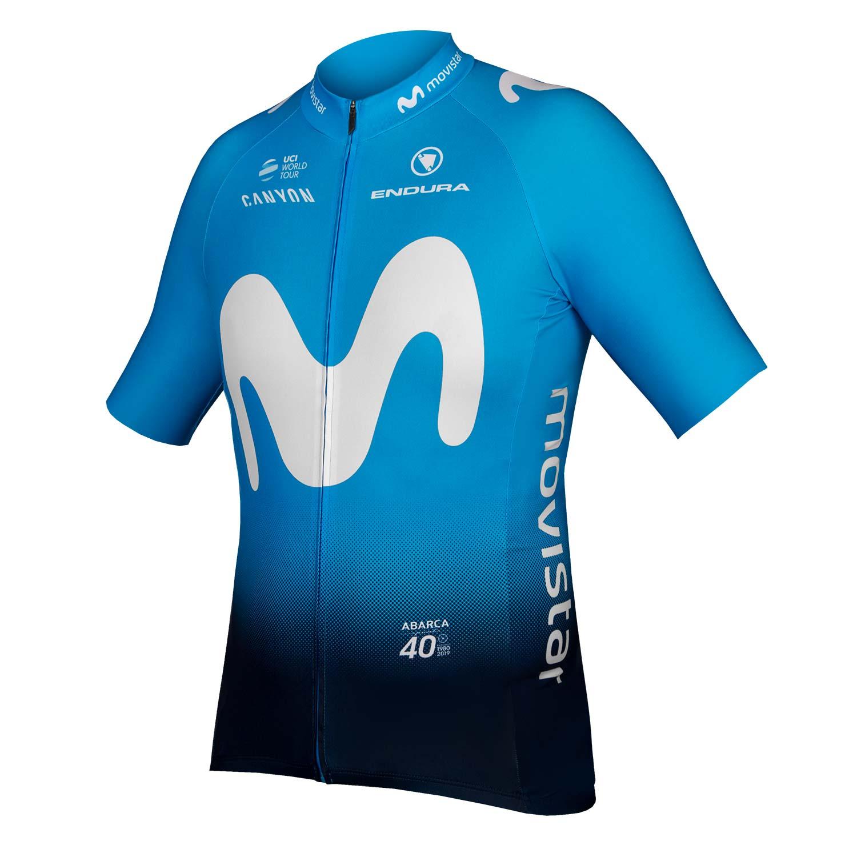 ENDURA MOVISTAR 2019 short sleeve cycling jersey (continuous zipper)-  professional cycling team 03f3d29ef