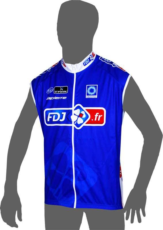 BTWIN FRANCAISE DES JEUX (FDJ.fr) 2014 wind-vest - professional cycling team 6e1d4aa23