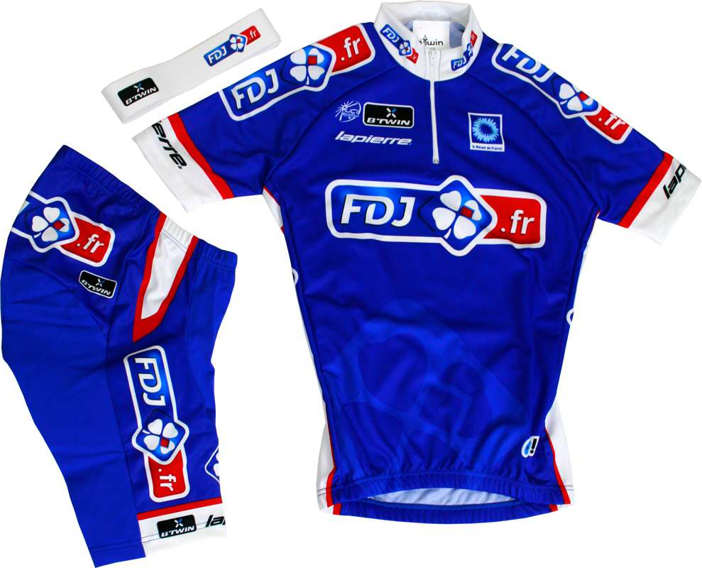 BTWIN FRANCAISE DES JEUX (FDJ.fr) 2014 cycling set for kids (jersey f411ffca4