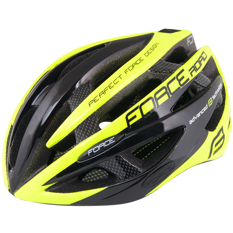 Casco bici Force ROAD PRO fluo
