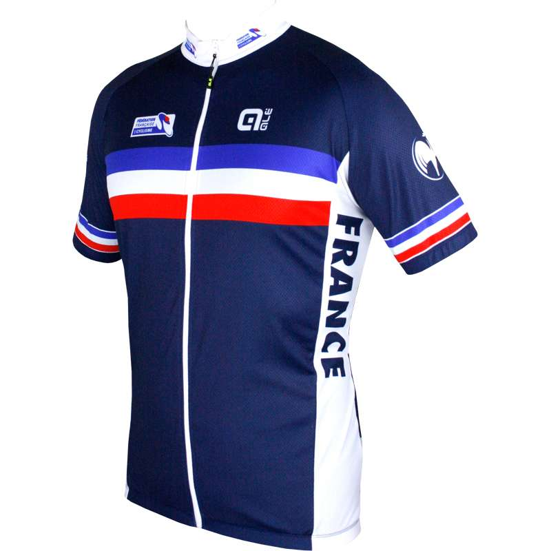 new products 556aa c6330 France 2018 short sleeve cycling jersey (long zip) - ALE national cycling  team