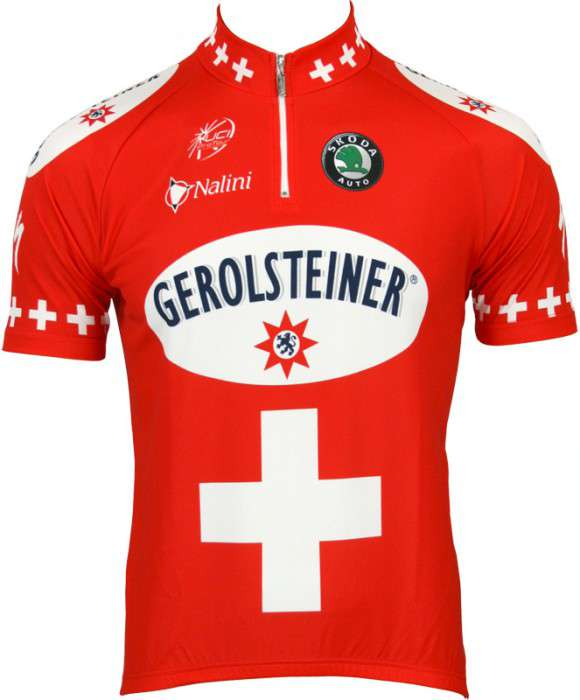 fb720d0b2 Gerolsteiner Swiss Champ 2007 tricot (jersey short sleeve) - Nalini  professional cycling team. Next