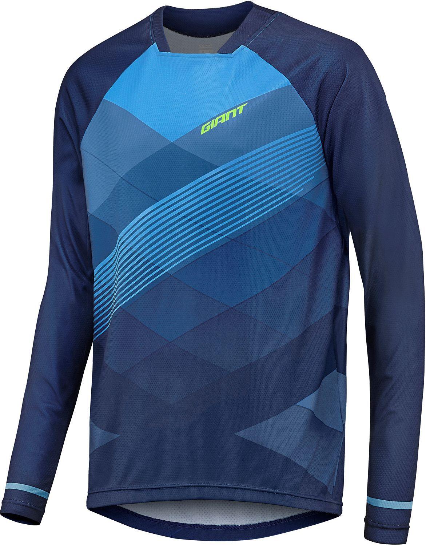 7e54ad709 GIANT TRANSFER long sleeve cycling jersey blue (E18)