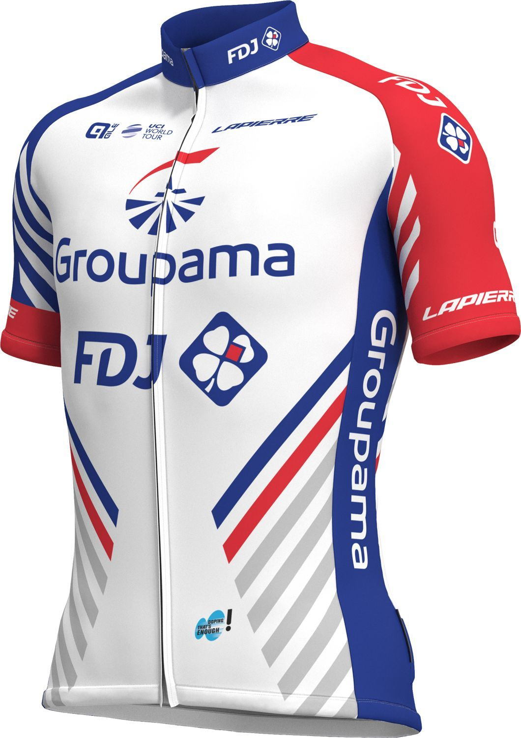 f3cc23ebe ALÉ GROUPAMA-FDJ 2018 short sleeve cycling jersey (long zip) - ALE  professional cycling team