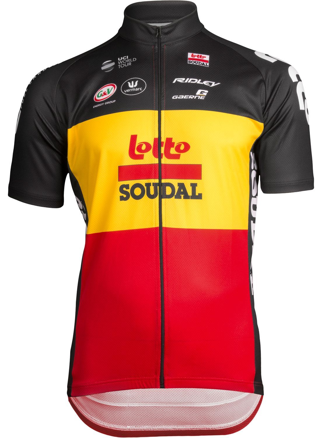LOTTO SOUDAL belgian time trail champ 2019 short sleeve cycling jersey -  professional cycling team
