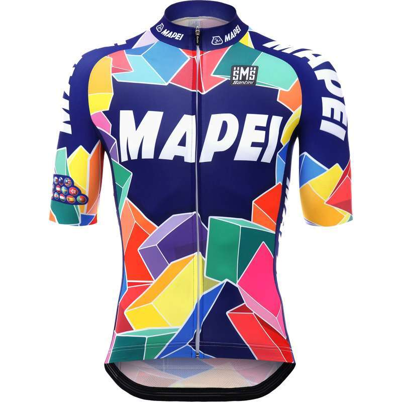 59565987e MAPEI Retro short sleeve cycling jersey - Santini professional cycling  team. Previous