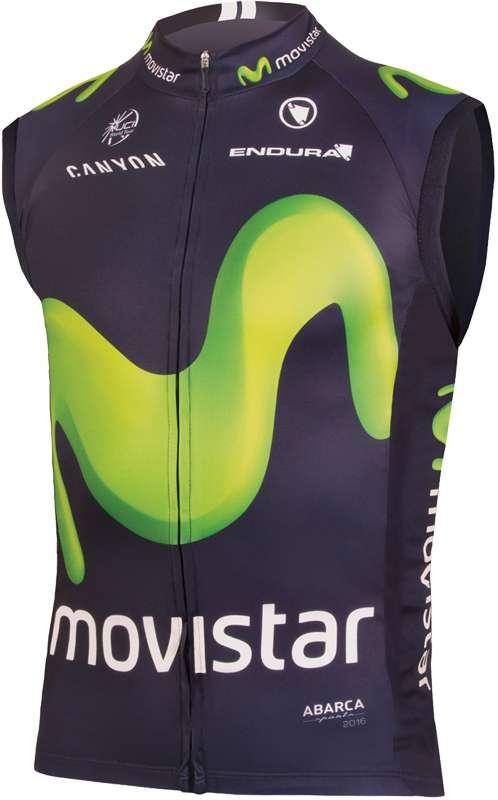 4f1ac38f0 ENDURA MOVISTAR 2016 wind-vest professional cycling team
