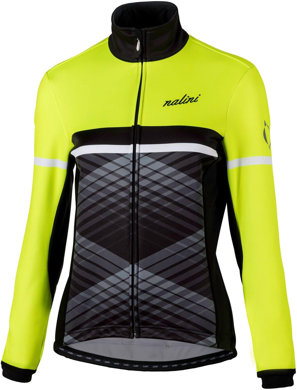 83c76bd4b NALINI PRO WS Lady Jkt womens winter cycling jacket black yellow (I18-4050)