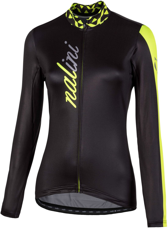 61eb66c4a NALINI PRO LW Lady Jersey womens long sleeve cycling jersey black yellow ( I18-4050)