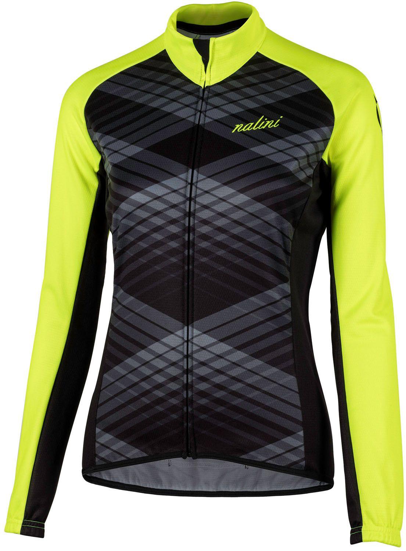 f31a3598d NALINI PRO Lady Ti womens long sleeve cycling jersey black yellow (I18-4050)