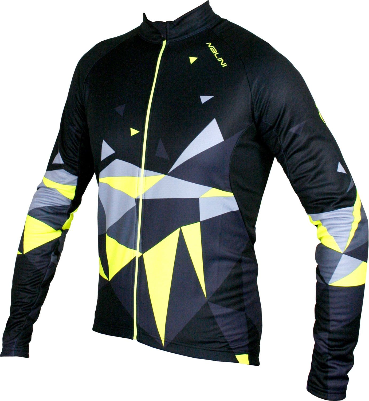 ec3bd2681 NALINI King size PRO Logo Jersey B long sleeve cycling jersey black yellow ( I18-4050)