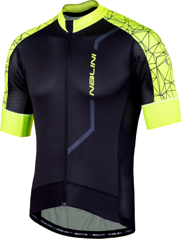NALINI VELOCITA 2.0 short sleeve cycling jersey black yellow (E19-4050) 4d560489a
