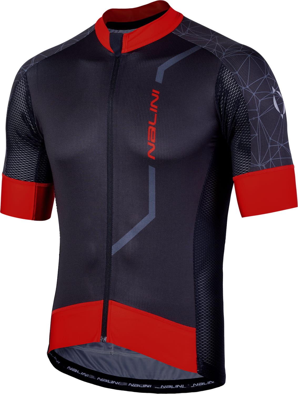 NALINI VELOCITA 2.0 short sleeve cycling jersey black red (E19-4000) b18a5b4ad